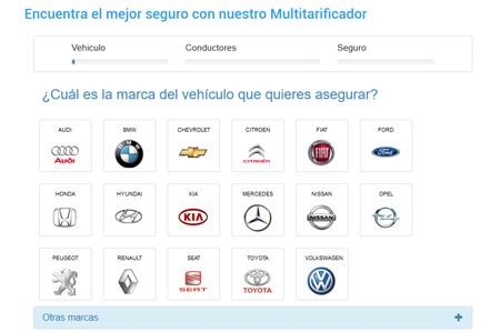 Multitarificador Seguros vehículo. Seguros Nubeiro